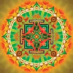 Gyógyító Buddha mandala-